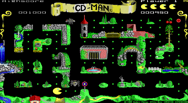 cd-man small DOS games